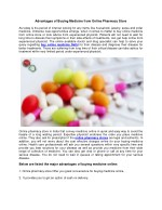 Advantages of Buying Medicine from Online Pharmacy Store