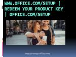 www.office.com/setup | redeem your product key
