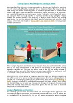 Safety Tips to Avoid Injuries During a Move
