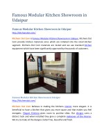 Famous Modular Kitchen Showroom in Udaipur