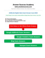 AdWords Digital Sales Exam Answer June 2018