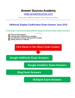 AdWords Display Certification Exam Answer June 2018