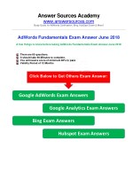 AdWords Fundamentals Exam Answer June 2018