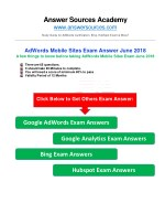 AdWords Mobile Sites Certification Exam Answer June 2018