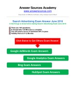 AdWords Search Certification Exam Answer June 2018