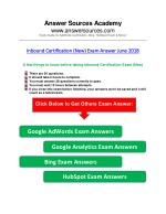 Inbound Certification (New) Exam Answer June 2018
