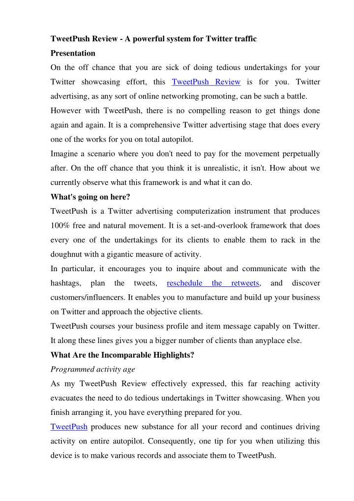 tweetpush review a powerful system for twitter n.