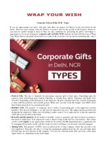 Best corporate gifts suppliers and manufacturers Delhi types