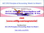 ACC 290 Principles Of Accounting Week 4 To Week 5
