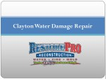 Water Damage Repair Clayton North Carolina