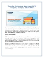Choosing the Greatest Graphics and Web Designing Company in Delhi NCR