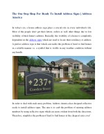 The One Stop Shop For Ready To Install Address Signs | Address America