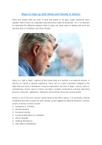 Ways to Cope up with Stress and Anxiety in Seniors