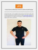 Connect with Certified Gym Trainer to Achieve Good Physique