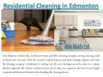 Residential Cleaning in Edmonton