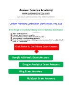 Content Marketing Certification Exam Answer June 2018