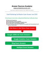 Email Marketing Certification Exam Answer June 2018