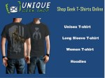 Shop Geek T-Shirts Online |Man & Woman Apparel | Unique Geek Shop