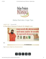 5 (Five) Best Patanjali Products for Weight Loss