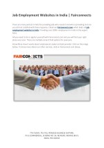 Job Employment Websites in India | Fairconnects