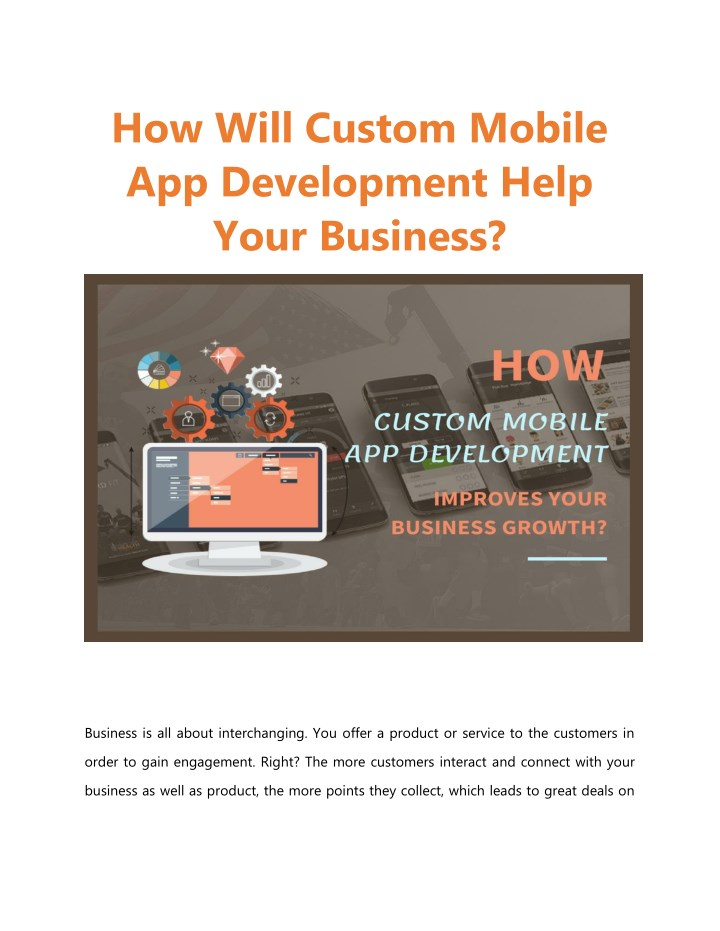 how will custom mobile app development help your n.