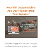 How Custom Mobile App Development Improves Your Business Growth?