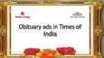 Book Obituary Ads in Times of India Newspaper Online via Bookadsnow