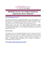 GM Health Care Pvt. Ltd | Vardhan Fertility and Laparoscopy Centre | Elawoman