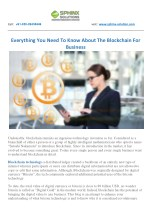 EVERYTHING YOU NEED TO KNOW ABOUT THE BLOCKCHAIN FOR BUSINESS