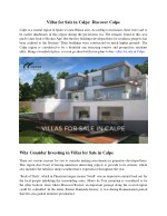 villas for sale in calpe