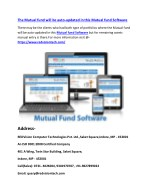 The Mutual fund will be auto-updated in this Mutual fund Software