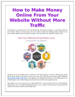 How to Make Money Online From Your Website Without More Traffic
