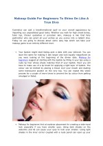 Makeup Guide For Beginners To Shine On Like A True Diva