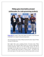 Philips gets virat kohli as brand ambassador for male grooming products