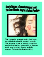 Cosmetic Surgery Loan: The Cost-Effective Way To A Perfect Physique