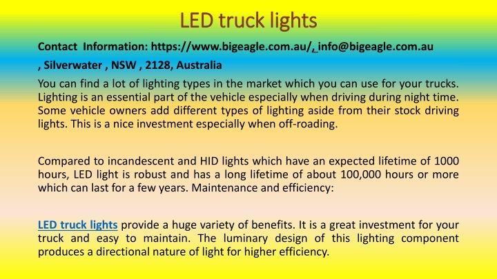 led truck lights n.
