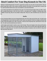 Ideal Comfort For Your Dog Kennels in The UK