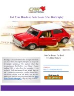 Get Quick Pre Approval For Car Loan Canada