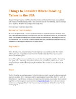 Things to Consider When Choosing Trikes in the USA