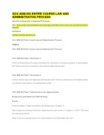 GCU ADM 636 ENTIRE COURSE LAW AND ADMINISTRATIVE PROCESS