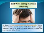 Best Ways to Stop Hair Loss Naturally