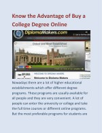Know the Advantage of Buy a College Degree Online