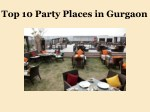 Top 10 Party Places in Gurgaon