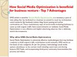 How Social Media Optimization is beneficial for business venture - Top 7 Advantages