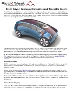 Green Driving: Combining Composites and Renewable Energy