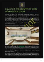 Believe in the Benefits of Home Design by RInterior