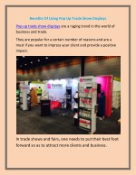 Benefits Of Using Pop Up Trade Show Displays