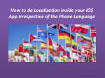 How to do Localization Inside your iOS App Irrespective of the Phone Language