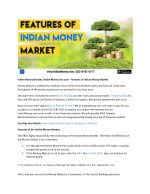 Indian Money Review, Indian Money Dot com - Features of Indian Money Market