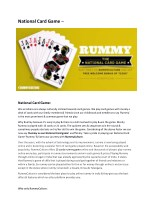 National Card Game Rummy